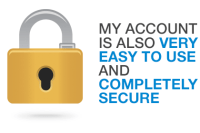 My Account is very easy to use and completely secure at the Quilters Closet.