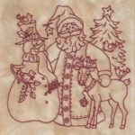 Believe In Santa Machine Embroidery 3 Bird Brain