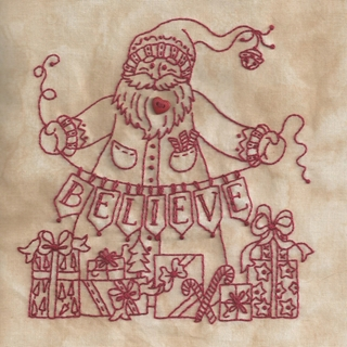 Believe In Santa Machine Embroidery 4 Bird Brain
