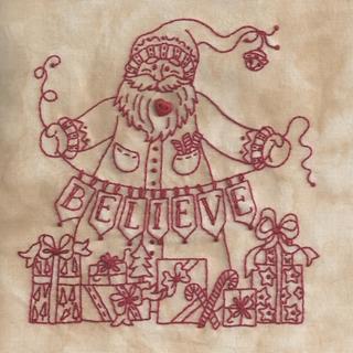 Believe In Santa Machine Embroidery 4 Bird Brain