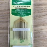 Clover Gold Eye Embroidery Needles 3 9