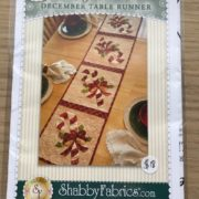 December Table Runner Shabby Fabrics