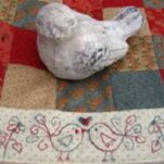 Love Birds Table Runner Fig N Berry