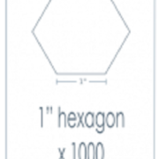 1 Hexagon Epp Iron Ons 1000