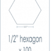 Half Inch Hexagon Epp Iron Ons 100