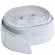 By Annie 20mm Fold Over Elastic Pewter