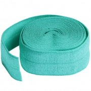 By Annie 20mm Fold Over Elastic Turquoise