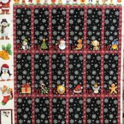 Advent Calendar Fabric Pane