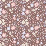 Tilda Plum Garden Flower Confetti Nutmeg