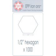 0.5in Hexagon Epp Iron Ons 1000