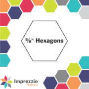 "5/8"" Hexagon Papers 560Pk - Imprezzio"