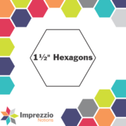 "1.5"" Hexagon Papers 150Pk - Imprezzio"