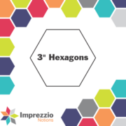 "3"" Hexagon Papers 50Pk - Imprezzio"