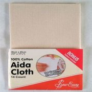Aida Cloth 14ct Ecru - Sew Easy