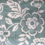 Sevenberry Heavy Cotton Leaf Print - Aqua