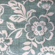 Sevenberry Heavy Cotton Leaf Print - Aqua