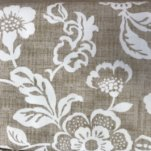 Sevenberry Heavy Cotton Leaf Print - Beige