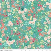 Flower Market C8921 Teal