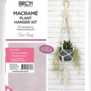 Birch Macrame Plant Hanger Kit